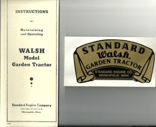 Reproductions Standard Walsh Manual /& Decal Combo