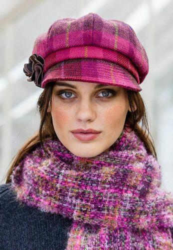 Newsboy Cap Femmes Carreaux Rouges Tweed Hat mucros Weavers 223 A