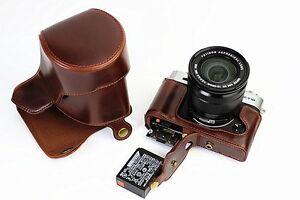 Image Is Loading Leather Camera Bag Cover For Fujifilm Fuji XT10