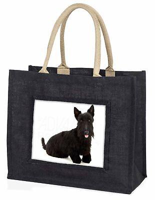 Scottish Terrier große schwarze Einkaufstasche Weihnachten
