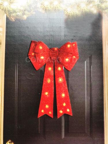 Giant Light Up Porte Bow Rouge Décoration de Noël
