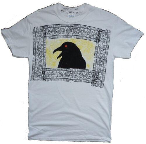 Bird Watching Crow Raven portrait pagan shaman Gothic mens t shirts S-3XL