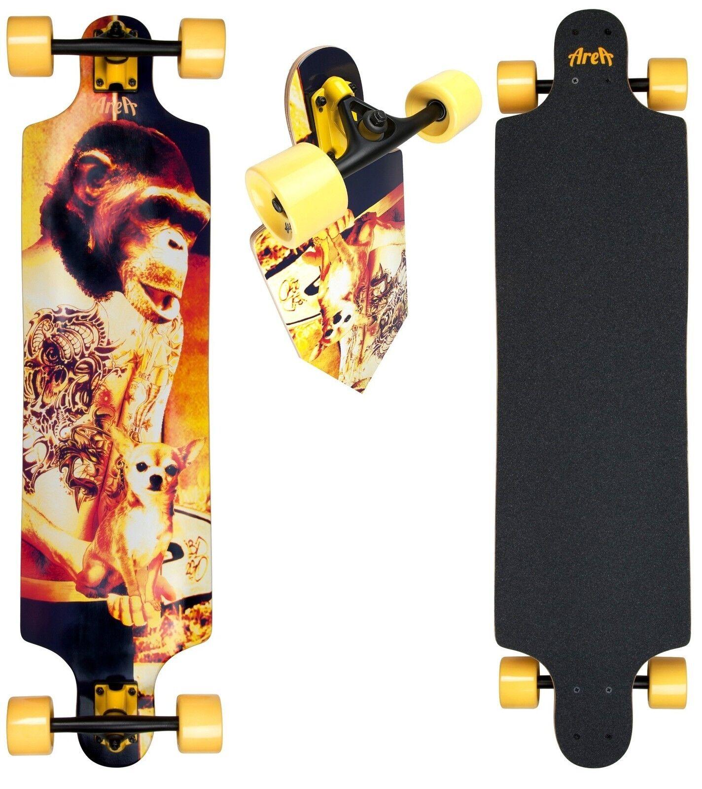 Longboard AREA  Simian Kind  Modell Modell Modell  Skateboard  Neu 7b686c