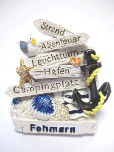 Fehmarn Magnet Poly Souvenir Germany Strand Leuchtturm Hafen Ostsee