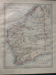 Map Of Australia Showing Perth.Details About 1900 Victorian Map West Australia Showing Goldfields Perth Albany