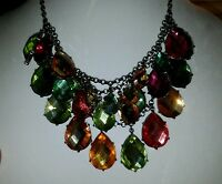 Joan Rivers Necklace 48in Green Shell And Gold (rare)