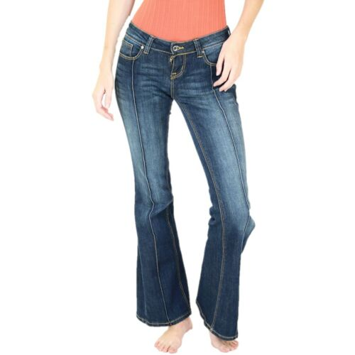 Grace in L.A Ladies Straight Shooter Flare Jeans JB71187