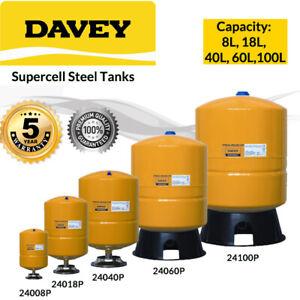 DAVEY-SUPERCELL-8-18-40-60-100L-PRESSURE-TANK-SUIT-WATER-PUMPS