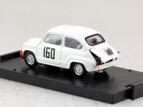Fiat Abarth 850 TC Racing #160 1966 1:43 Brumm Modellauto R306