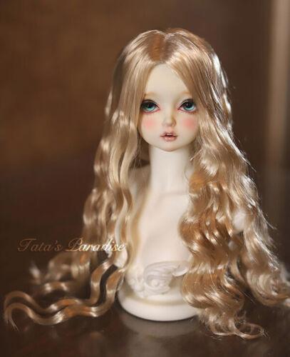 Bjd Doll Wig 1//3 1//4 1//6 AOD DZ AE SD DOD LUTS Super Dollfie Gold Toy Hair Wigs