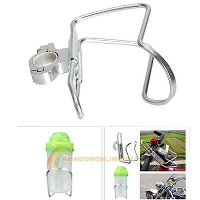 Cycling Bike Bicycle Aluminum Alloy Handlebar Water Bottle Holder Silver