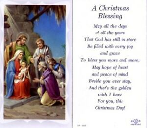 Christmas Blessing Prayer.Details About Christmas Blessing Holy Card And Devotional Prayer