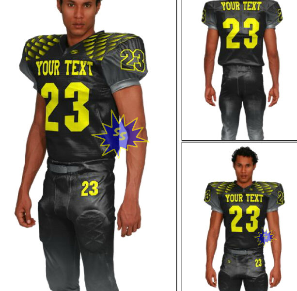 Sublimated Football Jersey including all text and optional pants, select colors