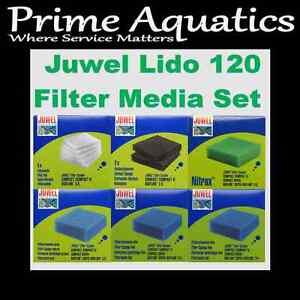 Juwel Lido 120 Complete Media Set Filter Nouveau Boxed
