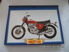 CARTE FICHE MOTO 1969 HONDA CB 750 FOUR