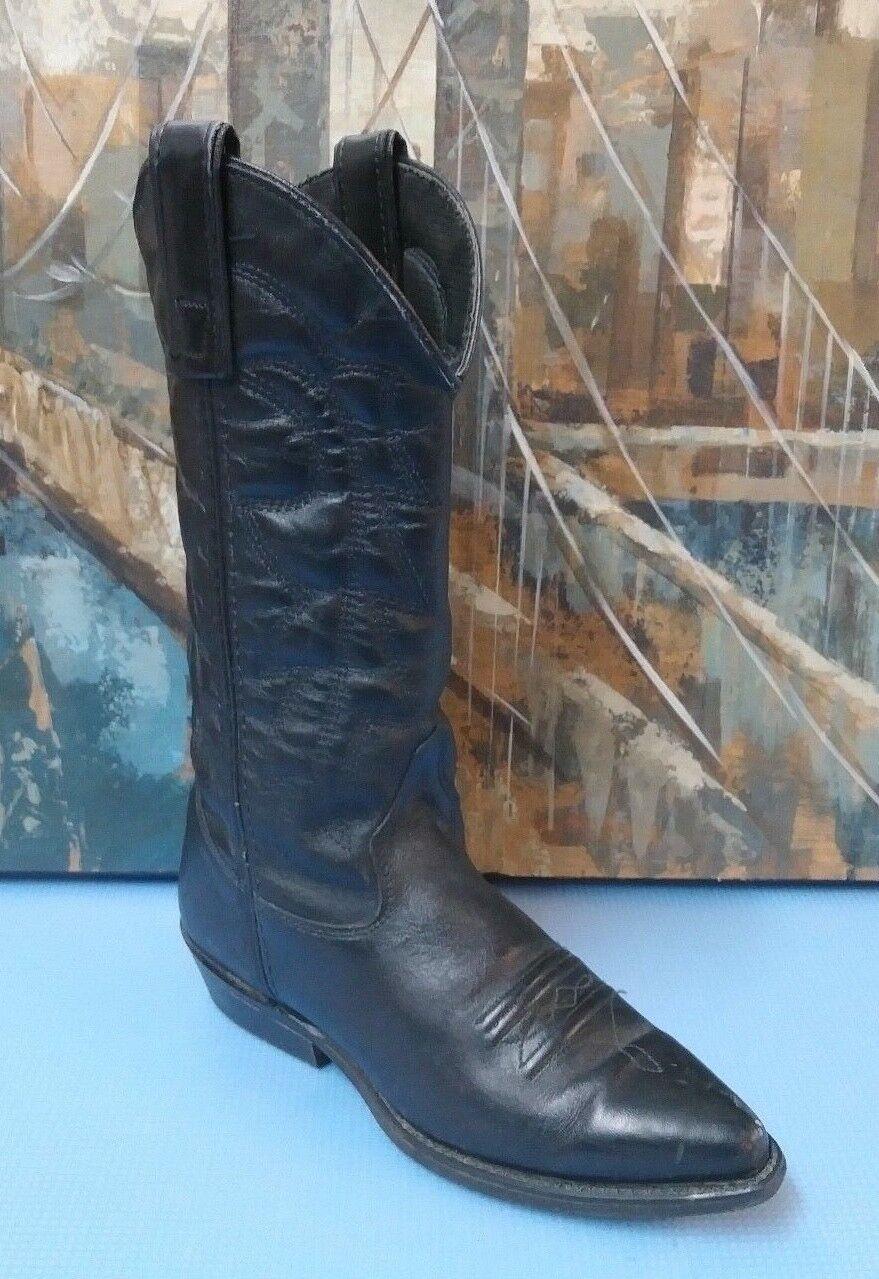 CAPEZIO-WOMEN'S BLACK LEATHER COWBOY WESTERN BOOTS-sz 5.5  M
