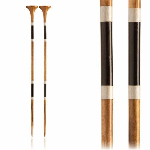 10 in 5.0 mm :Teak Single Pointed Needles: 8 US 25 cm Furls