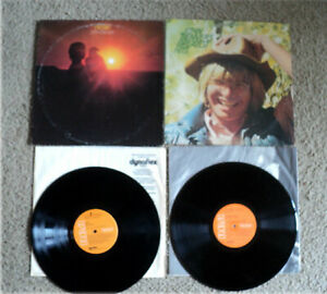 Lot-Of-Two-John-Denver-LP-039-s-Albums-Aerie-amp-Greatest-Hits