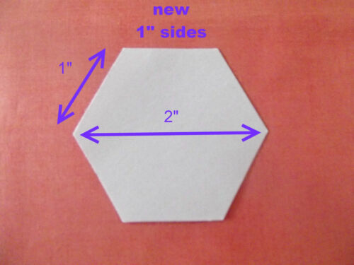 500 LASER CUT HEXAGON PATCHWORK PAPER TEMPLATES ONE INCH SIDES EPP HEXIES