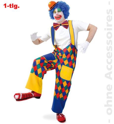 Clown Multicolour Check Trousers Clownhose Spaßmacher Trousers Unisex Costume