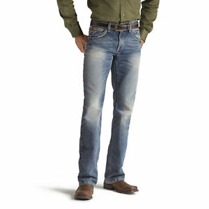 ARIAT-Men-039-s-Low-Rise-Straight-Leg-M5-Gambler-Medium-Wash-Jeans-10012703-NWT