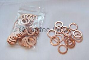 Dichtringe  13x18x1,5 mm 25 Stück Kupferringe
