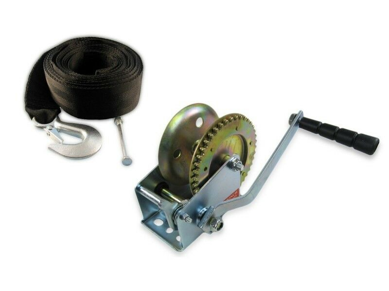 Set Trailerwinde 540 kg + Trailerwindengurt 6 m Winde Gurt Seilwinde LID19571