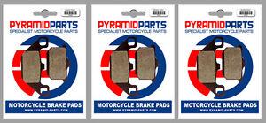 Front & Rear Brake Pads (3 Pairs) for Kawasaki ZX 750 E, GP 83-85