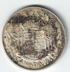 CANADA-1946-DESIGN-50-CENTS-HALF-DOLLAR-KING-GEORGE-VI-CANADIAN-800-SILVER-COIN