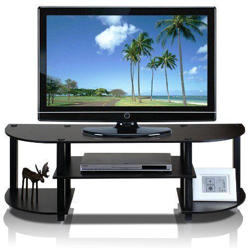 Furinno Turn-S-Tube Wide TV Entertainment Center Espresso//Black 11058EX//BK New
