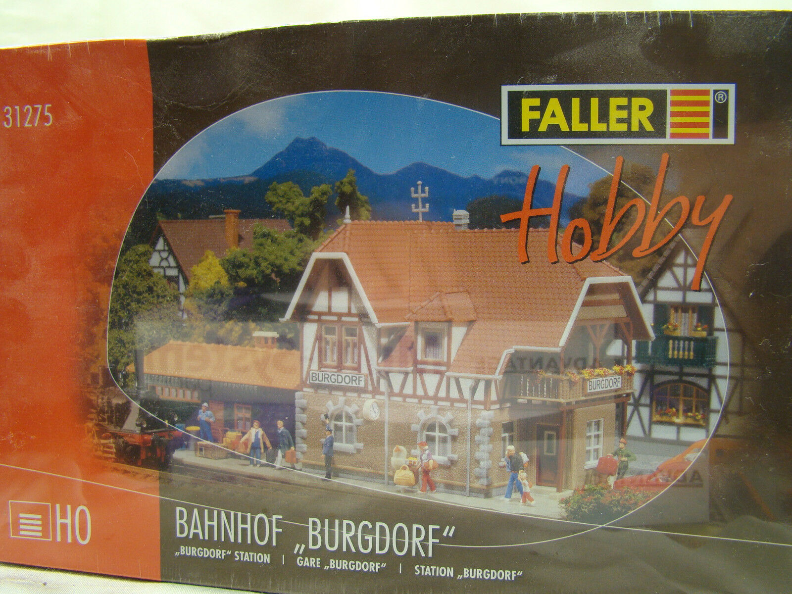 Faller Train Station - top looking - NIB - easy to build - HO scale
