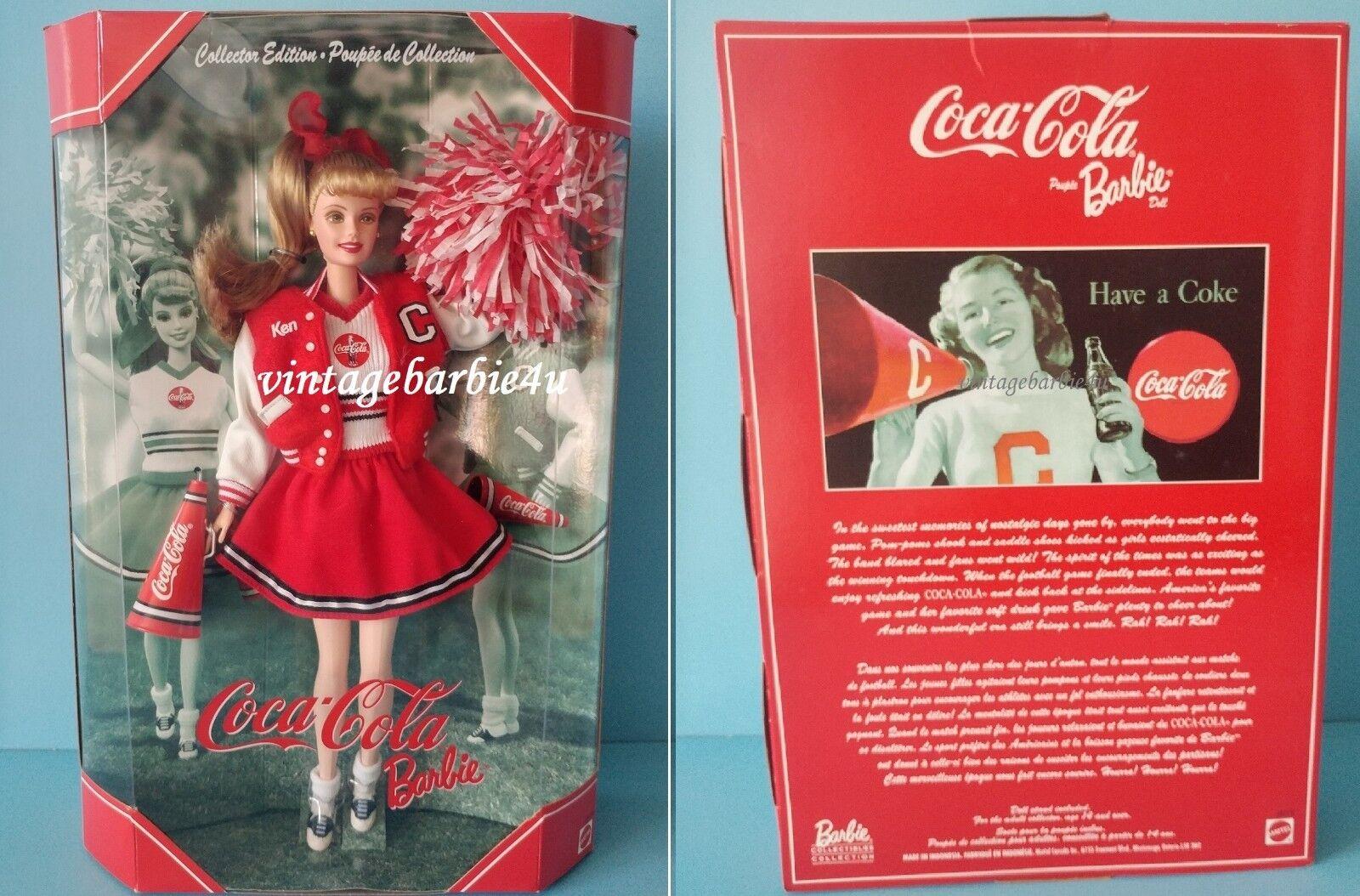 Coca Cola Cheerleader 2001 Muñeca Barbie Nuevo Sin Usar, En Caja Mattel último En Stock