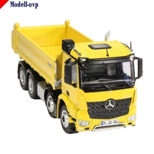 Mercedes Benz Arocs 8x4 Meiller Kipper gelb NZG  904//60 1:50