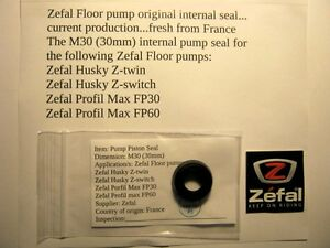 Image Is Loading Zefal Floor Pump 30mm Internal Piston Seal Current