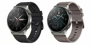 HUAWEI Smart Watch GT 2 Pro Leather Nebula Gray Black 46mm Water Resistant - NEW