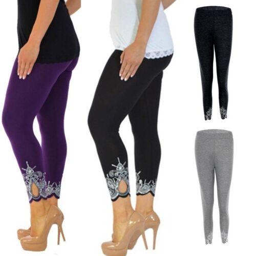 Women Ladies Winter Slim Skinny Pants Solid Cropped Trousers Leggings High Waist