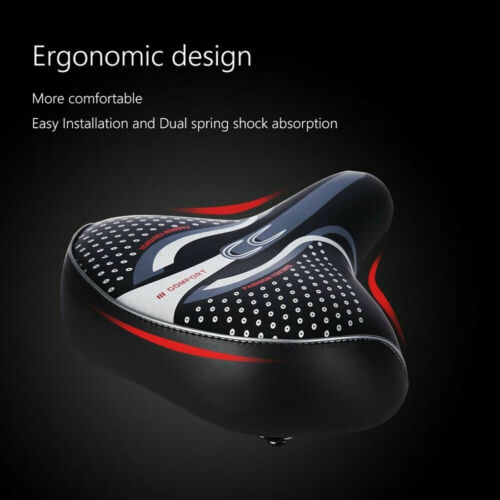New Comfort Extra Wide Big Bum Bike Bicycle Gel Soft Pad Saddle Seat Sporty