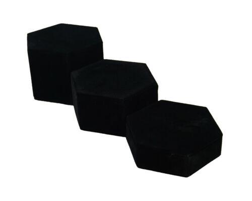 3 piezas conjunto de bloques plintos hexagonal Vertical-hexagonal ascendente Joyas Showcase