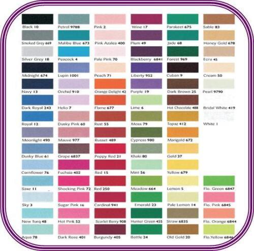 Berisfords double face 50mm ruban de satin-choisir longueur et couleur