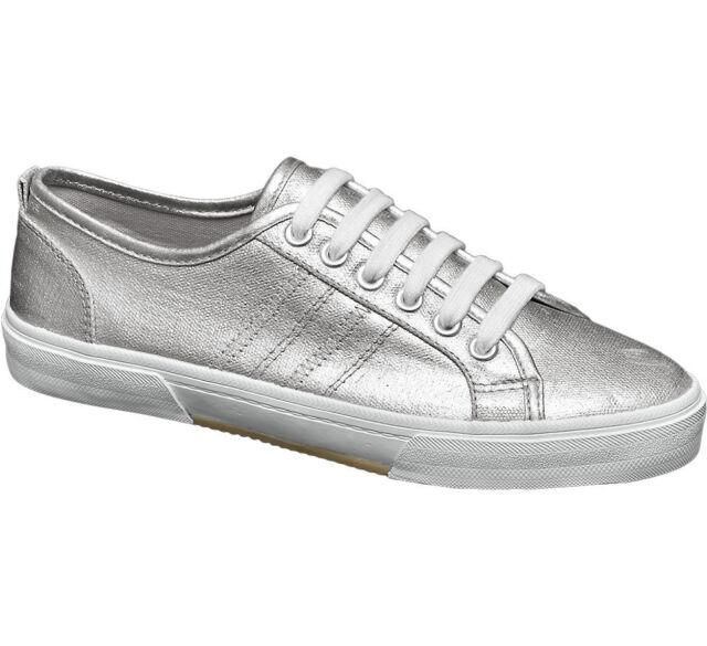 Deichmann Graceland Damen Sneaker silber Neu