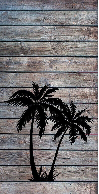 Palm Trees Wood Cornhole Baggo Bag Toss Board 3M Vinyl Wrap Set