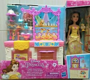 Disney Princess Belle S Royal Kitchen Fashion Doll And Playset With 13 Access 3 5010993719914 Ebay