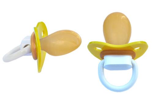 Big Adult Schnuller Pacifier DS10 Gelb DS10 Yellow Nr