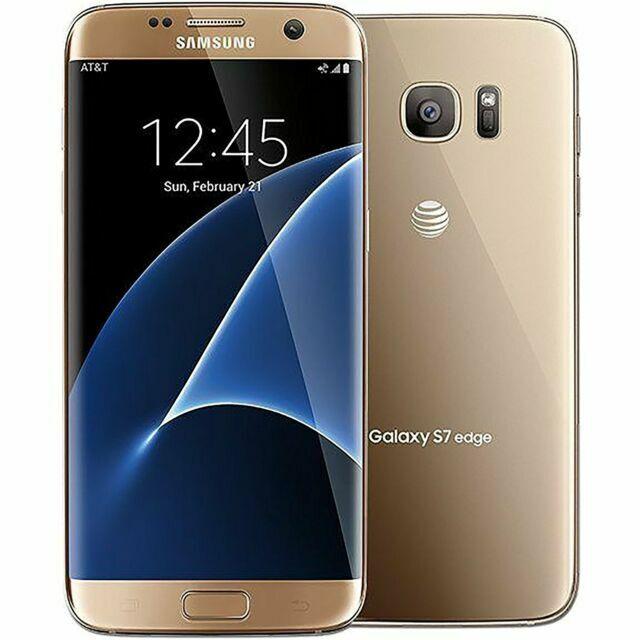 Samsung Galaxy S7 Edge Sm G935 32gb Gold Platinum At T Smartphone For Sale Online Ebay