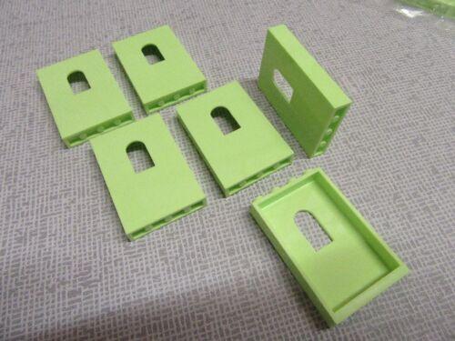 .039 Lego® Basic  City Burgen 6 x Wandelement in lime  wie Bild