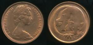 Australia-1966-c-One-Cent-1c-Elizabeth-II-Uncirculated