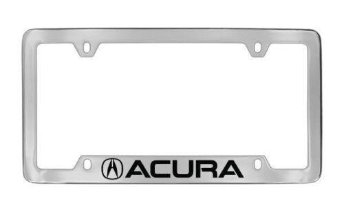 Acura Chrome Plated Bottom Engraved Metal License Plate Frame Holder