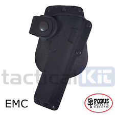New Fobus Colt 1911 Tactical Light Laser Bearing ROTATING Paddle Holster EMCRT