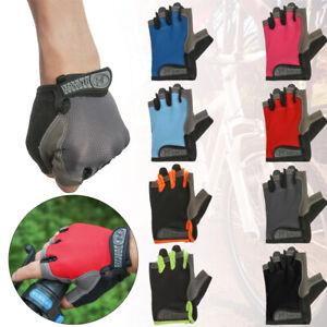 Waterproof Sports Non-slip Half Finger Gloves Unisex Bicycle Bike Riding Mittens