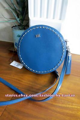 5b082bd6d4b3 NWT MICHAEL Michael Kors Medium Canteen Bag Leather LUXE TEAL ...